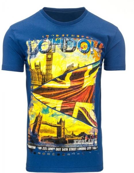 Vyriški marškinėliai Londo (Mėlyni) Paveikslėlis 1 iš 5 310820031145