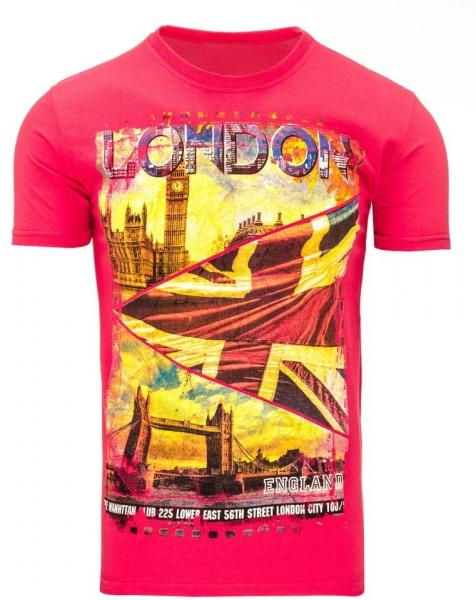 Vyriški marškinėliai Londo (Rožiniai) Paveikslėlis 1 iš 5 310820031148