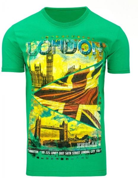 Vyriški marškinėliai Londo (Žali) Paveikslėlis 1 iš 5 310820031144