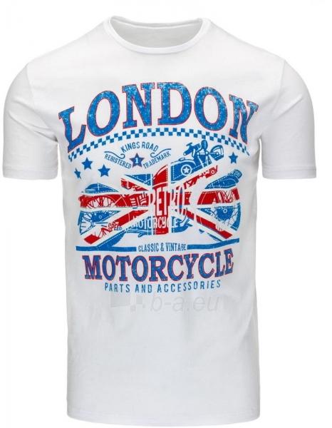 Vyriški marškinėliai LONDON (Balti) Paveikslėlis 1 iš 5 310820031173