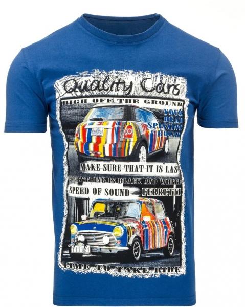 Vyriški marškinėliai Mini (Mėlyni) Paveikslėlis 1 iš 5 310820031143