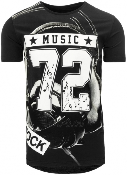 Vyriški marškinėliai MUSIC (Juodi) Paveikslėlis 1 iš 5 310820031247