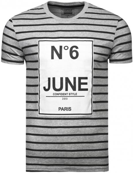 Vyriški marškinėliai N6 June (pilki) Paveikslėlis 1 iš 6 310820033072