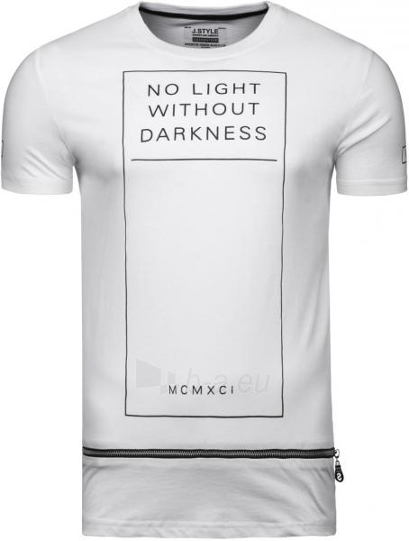 Vyriški marškinėliai No Light Without Darkness (balti) Paveikslėlis 1 iš 7 310820033076