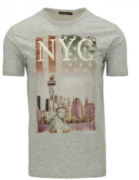 Vyriški marškinėliai NYC (Pilki) Paveikslėlis 1 iš 5 310820031160