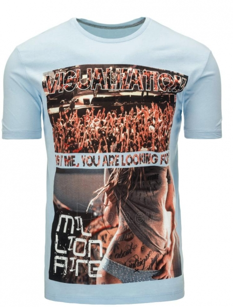 Vyriški marškinėliai Randal (Mėlyni) Paveikslėlis 1 iš 5 310820033481