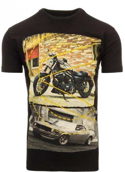 Vyriški marškinėliai Randolf (Juodi) Paveikslėlis 1 iš 5 310820033484