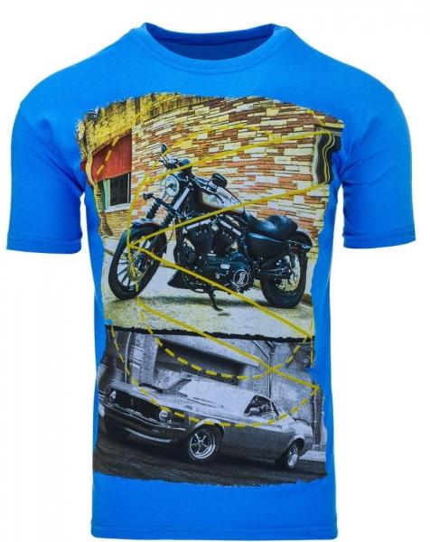 Vyriški marškinėliai Randolf (Mėlyni) Paveikslėlis 1 iš 5 310820033489