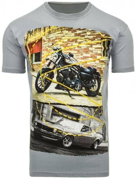 Vyriški marškinėliai Randolf (Pilki) Paveikslėlis 1 iš 5 310820033482