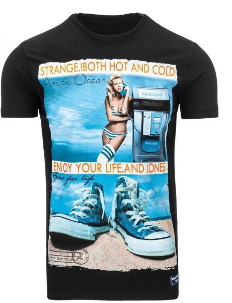 Vyriški marškinėliai Reagan (Juodi) Paveikslėlis 1 iš 5 310820033495