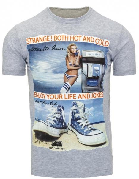 Vyriški marškinėliai Reagan (Pilki) Paveikslėlis 1 iš 5 310820033497
