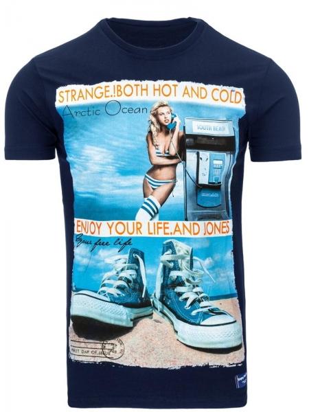 Vyriški marškinėliai Reagan (Tamsiai mėlyni) Paveikslėlis 1 iš 5 310820033494