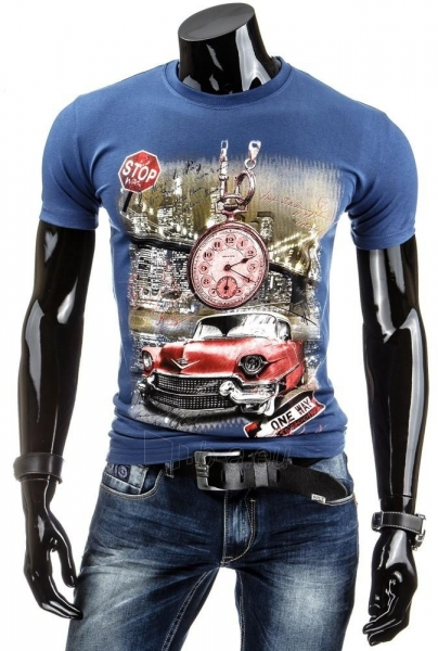 Vyriški marškinėliai Reynold (Mėlyni) Paveikslėlis 1 iš 4 310820043425