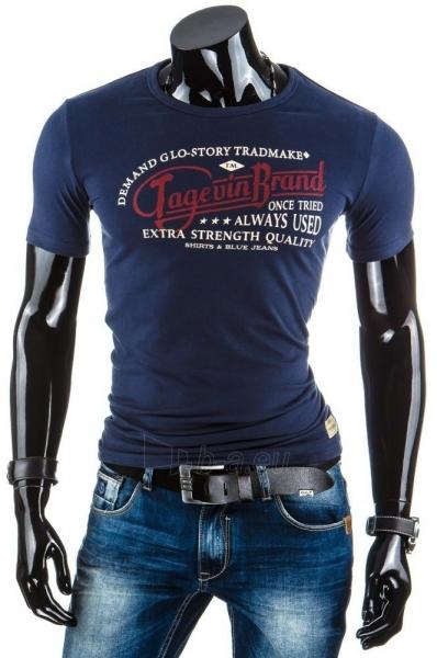 Vyriški marškinėliai Rian (Tamsiai mėlyni) Paveikslėlis 1 iš 4 310820043426