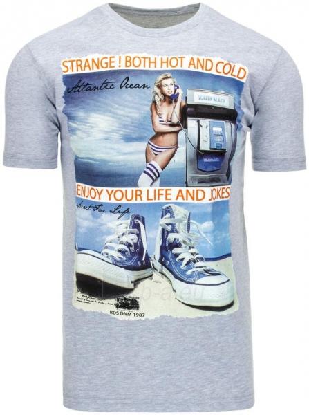 Vyriški marškinėliai Riley (Pilki) Paveikslėlis 1 iš 5 310820033513