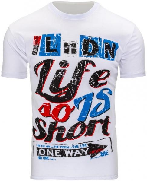 Vyriški marškinėliai Rodge (Balti) Paveikslėlis 1 iš 5 310820033551