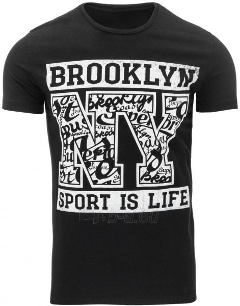 Vyriški marškinėliai Roger (Juodi) Paveikslėlis 1 iš 5 310820033557