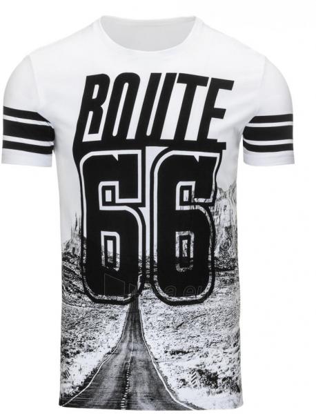 Vyriški marškinėliai ROUTE (Balti) Paveikslėlis 1 iš 5 310820033589