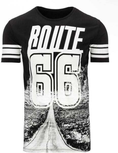 Vyriški marškinėliai ROUTE (Juodi) Paveikslėlis 1 iš 5 310820033590