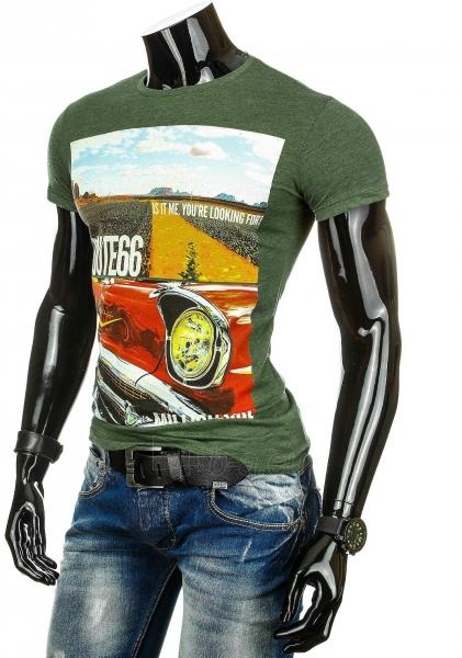 Vyriški marškinėliai Route66 (Alyviniai) Paveikslėlis 1 iš 3 310820033471