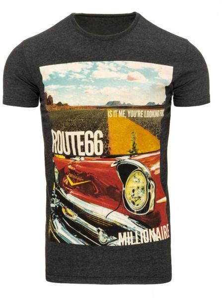 Vyriški marškinėliai Route66 (Juodi) Paveikslėlis 1 iš 5 310820033472