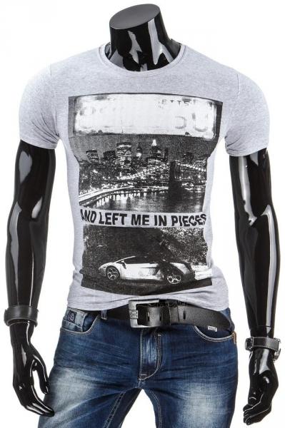 Vyriški marškinėliai Sammie (Pilki) Paveikslėlis 1 iš 4 310820034858