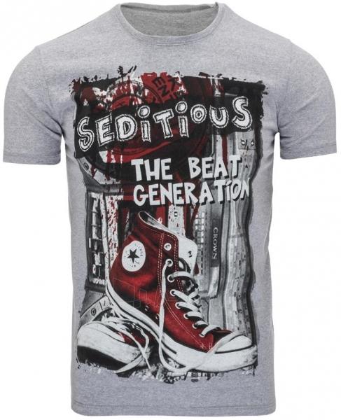 Vyriški marškinėliai Seditious (Pilki) Paveikslėlis 1 iš 5 310820033659