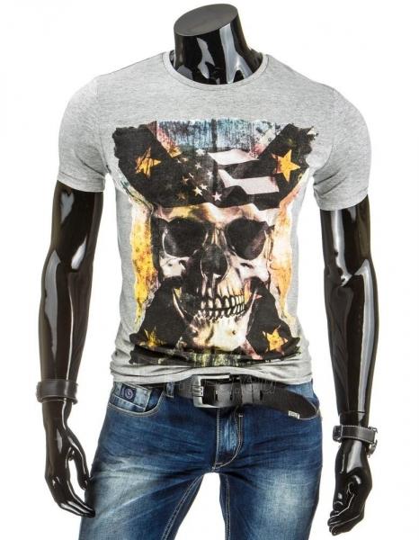 Vyriški marškinėliai Skull (Pilki) Paveikslėlis 1 iš 4 310820034850