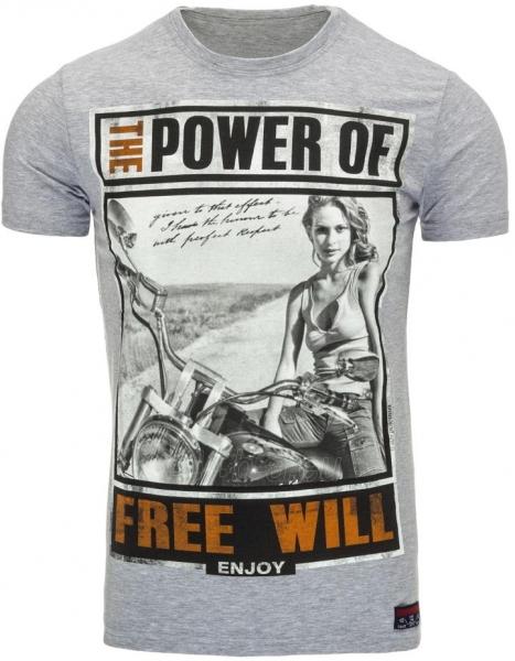 Vyriški marškinėliai THEPOWEROF (Pilki) Paveikslėlis 1 iš 5 310820033492