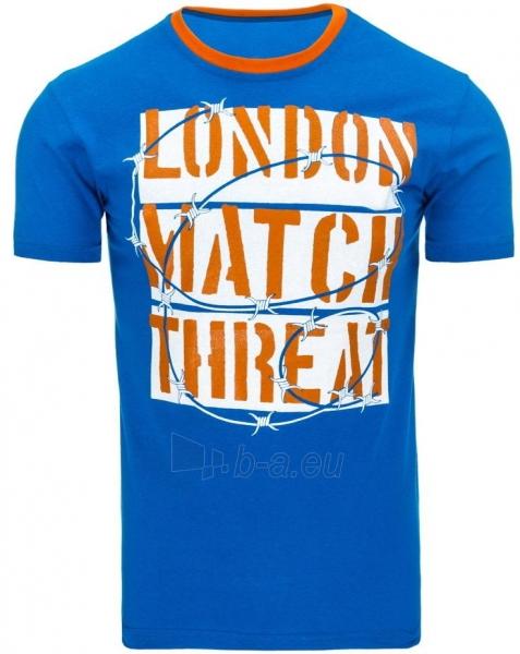 Vyriški marškinėliai THREAT (Mėlyni) Paveikslėlis 1 iš 5 310820033474