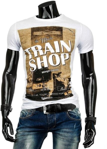 Vyriški marškinėliai TRAINSHOP (Balti) Paveikslėlis 1 iš 4 310820034813