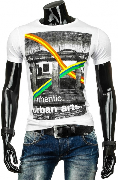 Vyriški marškinėliai URBAN (Balti) Paveikslėlis 1 iš 4 310820034819