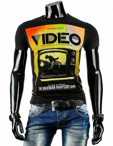 Vyriški marškinėliai VIDEO (Juodi) Paveikslėlis 1 iš 4 310820033464
