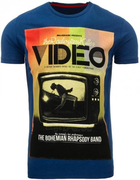 Vyriški marškinėliai VIDEO (Mėlyni) Paveikslėlis 1 iš 5 310820033463