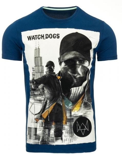 Vyriški marškinėliai WATCHDOGS (Mėlyni) Paveikslėlis 1 iš 5 310820033467