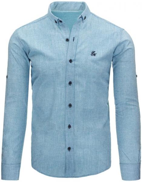 Vyriški marškiniai Aslan (mėlyni) Paveikslėlis 1 iš 2 310820045465