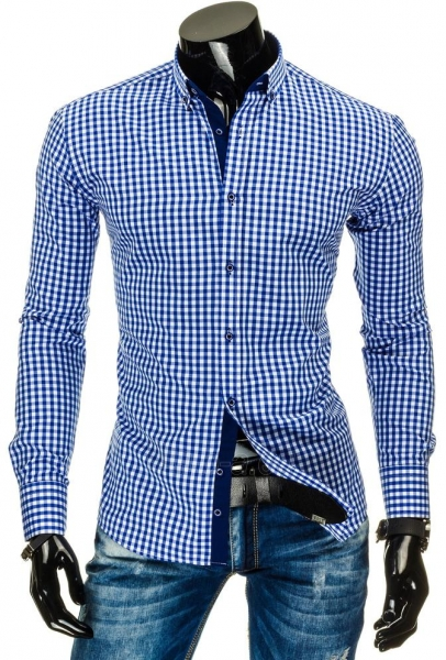 Vyriški marškiniai Benni (Mėlyni) Paveikslėlis 1 iš 6 310820034678
