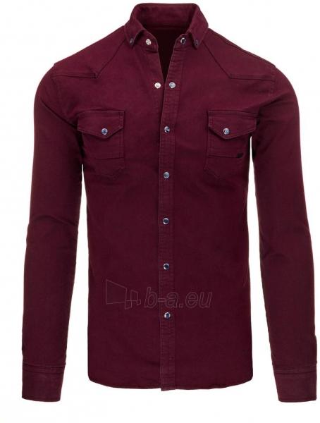 Vyriški marškiniai Jaanvi (bordinės spalvos) Paveikslėlis 1 iš 3 310820046796