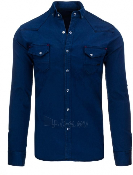 Vyriški marškiniai Jaanvi (tamsiai mėlyni) Paveikslėlis 1 iš 3 310820046798