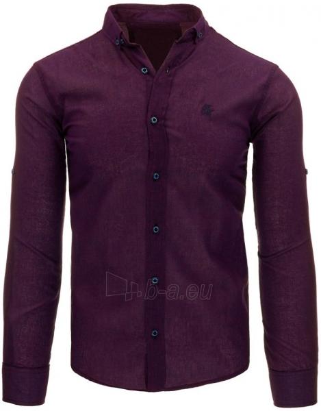 Vyriški marškiniai Jacen (bordinės spalvos) Paveikslėlis 1 iš 2 310820043711