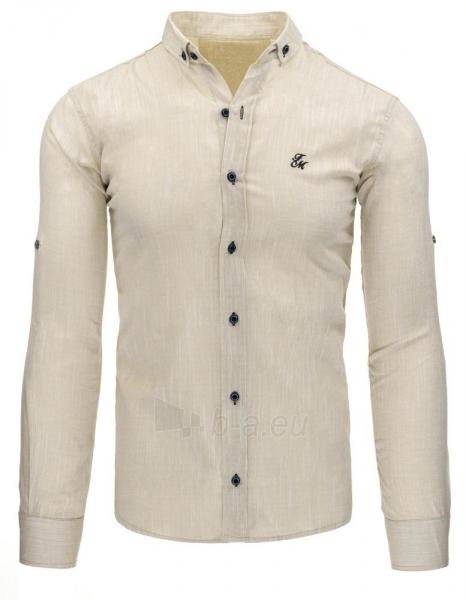 Vyriški marškiniai Jacen (smėlinės spalvos) Paveikslėlis 1 iš 2 310820043714