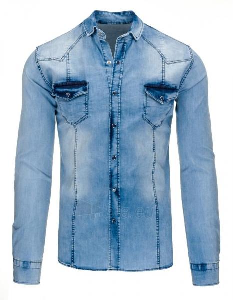 Vyriški marškiniai Janis (mėlyni) Paveikslėlis 1 iš 3 310820046792