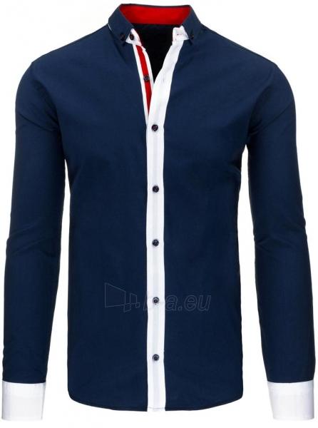 Vyriški marškiniai Karley (tamsiai mėlynos spalvos) Paveikslėlis 1 iš 2 310820045583