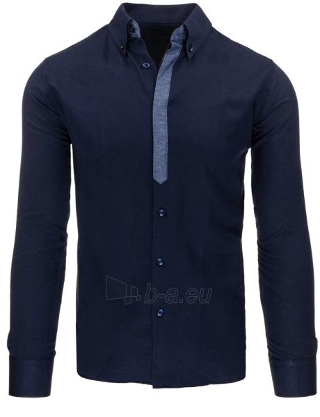 Vyriški marškiniai Tamim (tamsiai mėlynos spalvos) Paveikslėlis 1 iš 2 310820043737