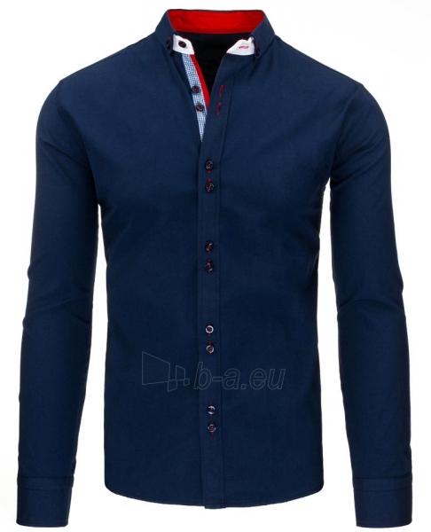 Vyriški marškiniai Teodor (tamsiai mėlynos spalvos) Paveikslėlis 1 iš 2 310820043733