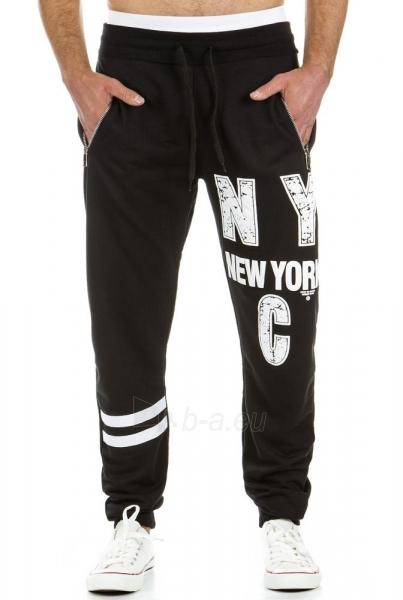 Vyriškos laisvalaikio kelnės NYC (Juodos) Paveikslėlis 1 iš 6 310820031862