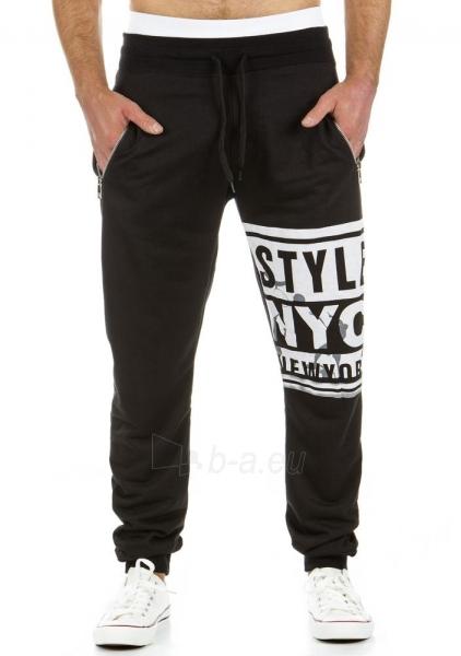 Vyriškos laisvalaikio kelnės Style (Juodos) Paveikslėlis 1 iš 6 310820031864