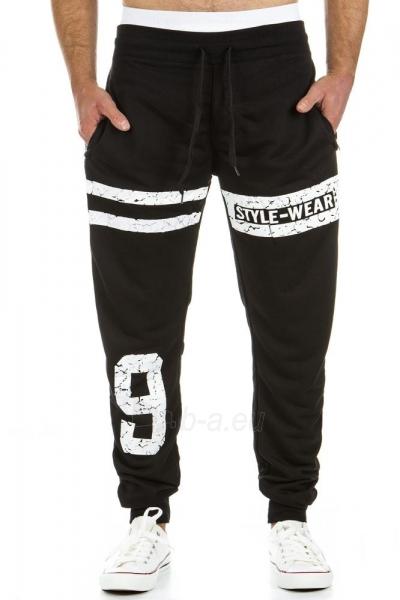 Vyriškos laisvalaikio kelnės Style9 (Juodos) Paveikslėlis 1 iš 6 310820031905
