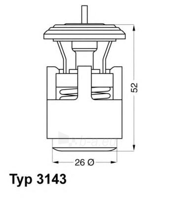 WAHLER termostatas, aušinimo skystis 3143.87D Paveikslėlis 1 iš 1 30119601714