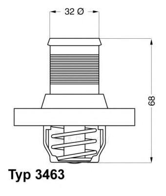 WAHLER termostatas, aušinimo skystis 3463.89D Paveikslėlis 1 iš 1 30119601723